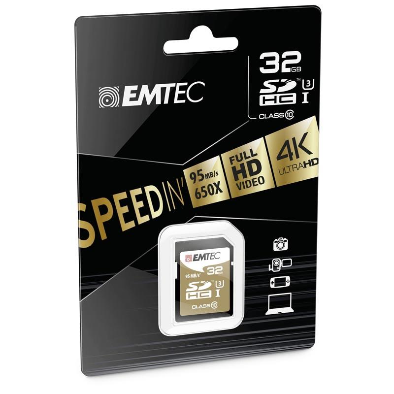 Emtec Speedin SDHC 32GB Clase 10 UHS-I U3