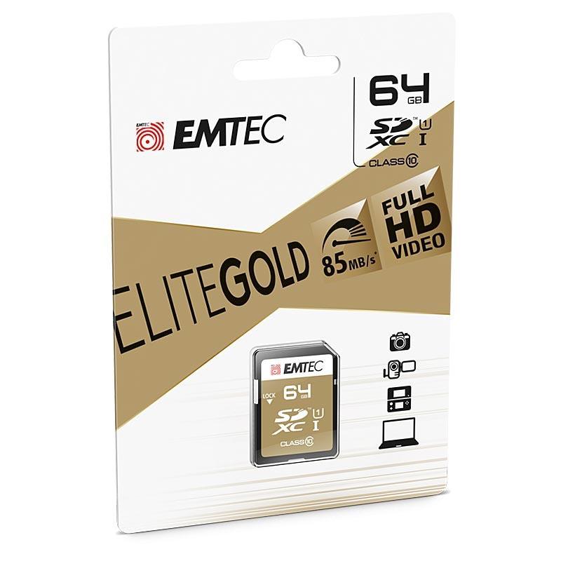 Emtec EliteGold SDXC 64GB Clase 10 UHS-I