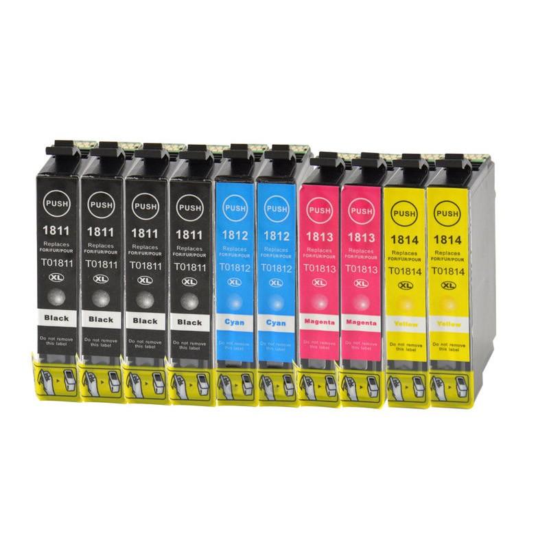 Pack ahorro t1811 - t1814  10 uds tinta compatible premium