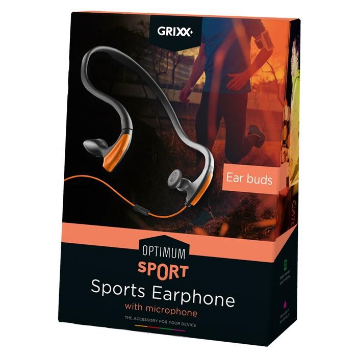 Auriculares Deportivos con Micrófono Ear Buds Grixx Sport Earphone