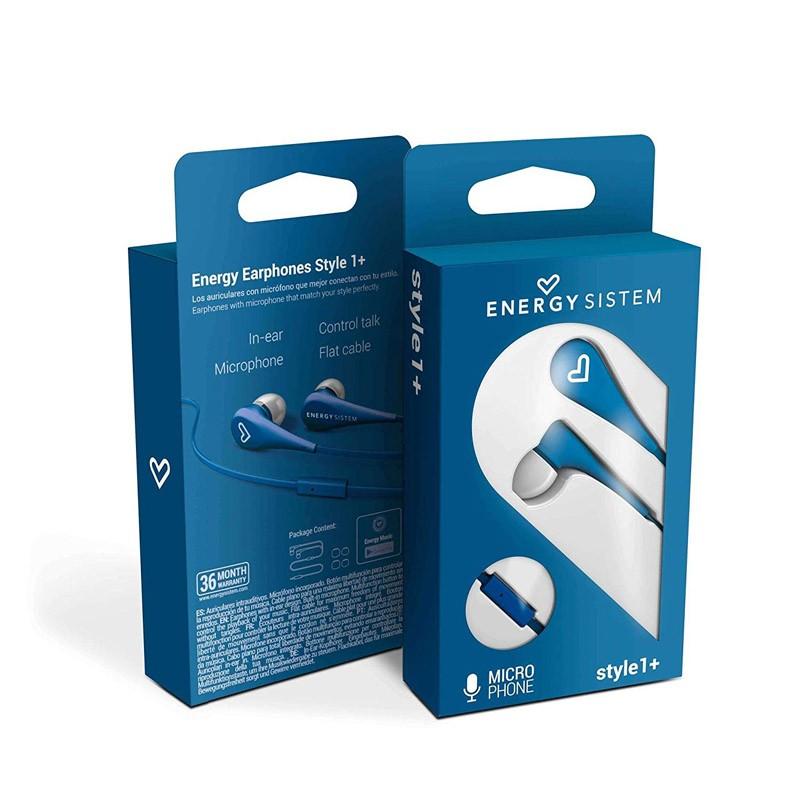Auriculares con Micrófono Energy Earphones Style 1+ Navy