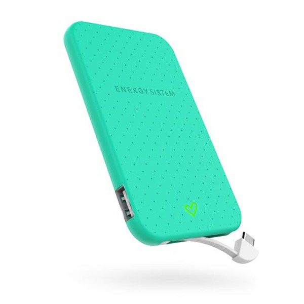 Batería Portable Power Bank 2500mAH Energy Extra Battery 2500 Verde