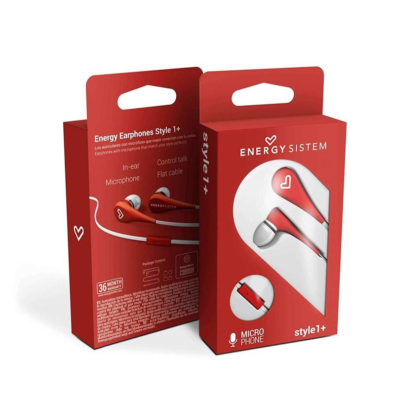 Auriculares con Micrófono Energy Earphones Style 1+ Rojo