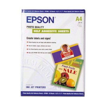 Epson Papel Photo Quality Self Adhesive Sheets 167 G/m2 10 u A4
