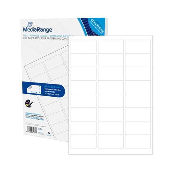 Etiquetas Adhesivas MediaRange 63.5x33.9 - 1200 uds
