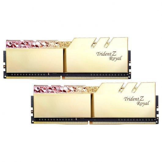 Memorias RAM G.Skill Trident Z Royal DDR4 16GB (2x8) 3000MHz CL16 Color Oro