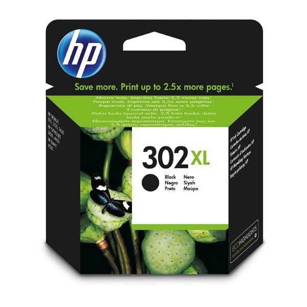 HP 302BK XL Cartucho de Tinta Original Negro