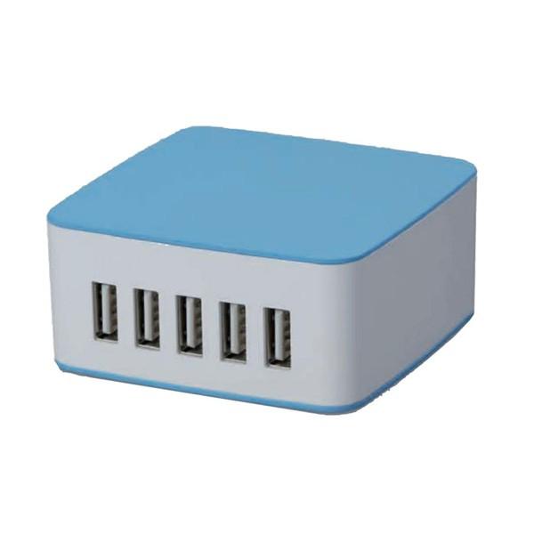 cargador-usb-de-pared-coolbox-rt-5-azul-blanco