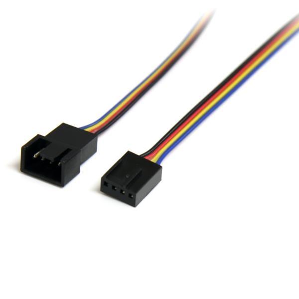 Cable de Extensión de Alimentación  para Ventilador 4 Pines- M/H