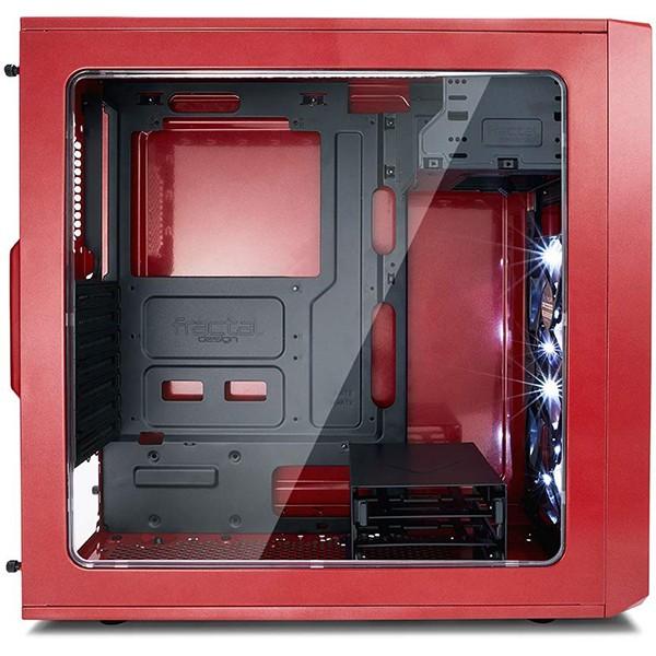 Caja PC ATX Fractal Focus G Roja con Ventana