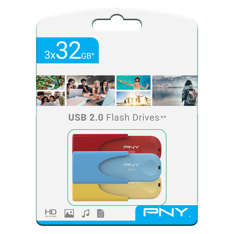 Pendrive 32GB PNY Attaché 4 Limited Edition (Pack de 3 Unidades)