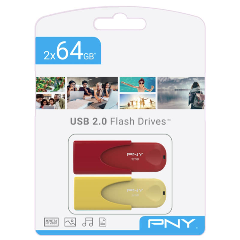 Pendrive 64GB PNY Attaché 4 Limited Edition (Pack de 2 Unidades)