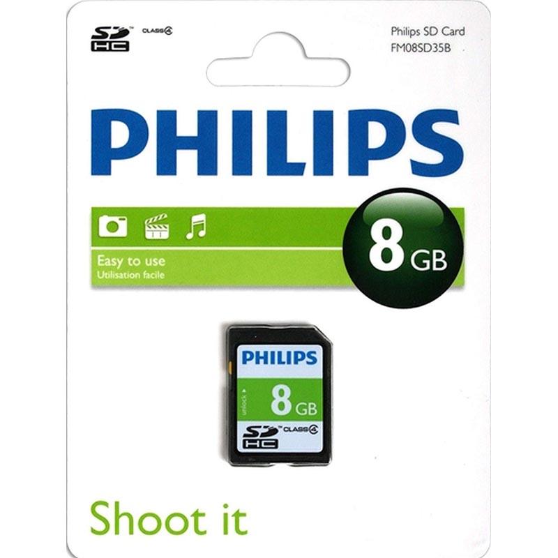 Philips Tarjeta SDHC 8GB Clase 4