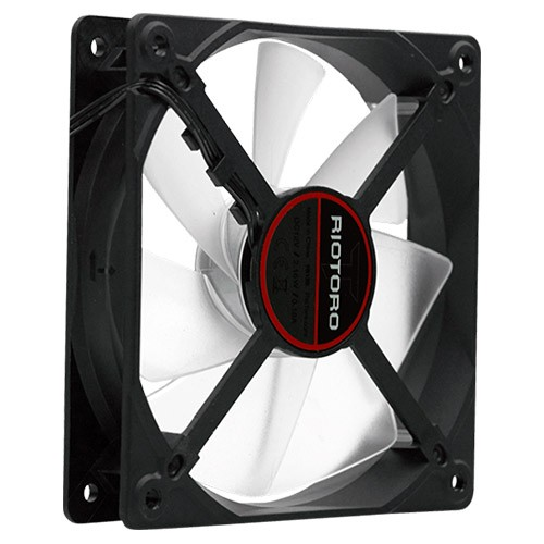 Ventilador PC Riotoro CROSS-X CLASSIC 120mm LED Rojo