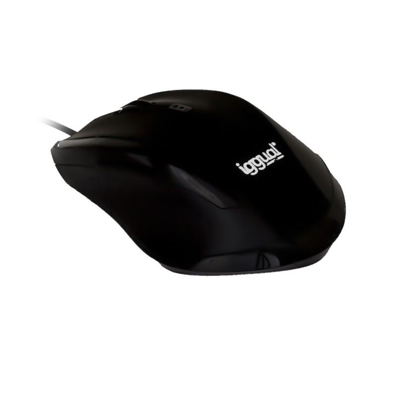 Ratón óptico Iggual WORK-1 1600dpi USB Negro