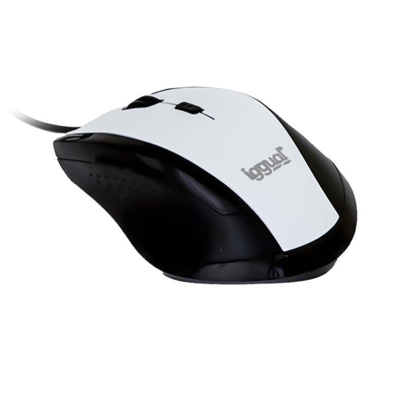 Ratón óptico Iggual WORK-1 1600dpi USB Blanco