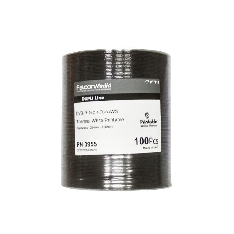 DVD-R 16x FalconMedia Dupli Line FF Thermal White 100 pcs