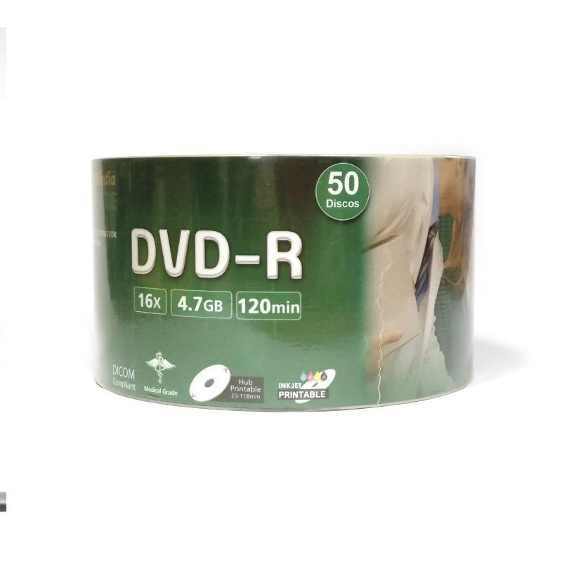 DVD-R 16X FalconMedia Mediline Inkjet Printable Bobina 50 uds