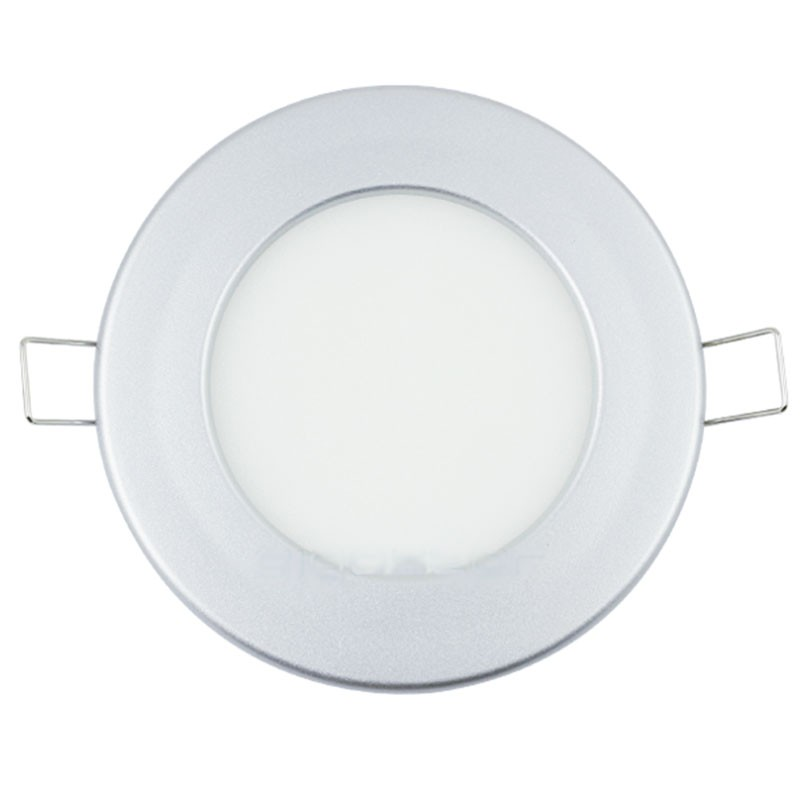 Foco Downlight Led SLIM Silver 9W 3000K 220v 115x32mm Serie E6
