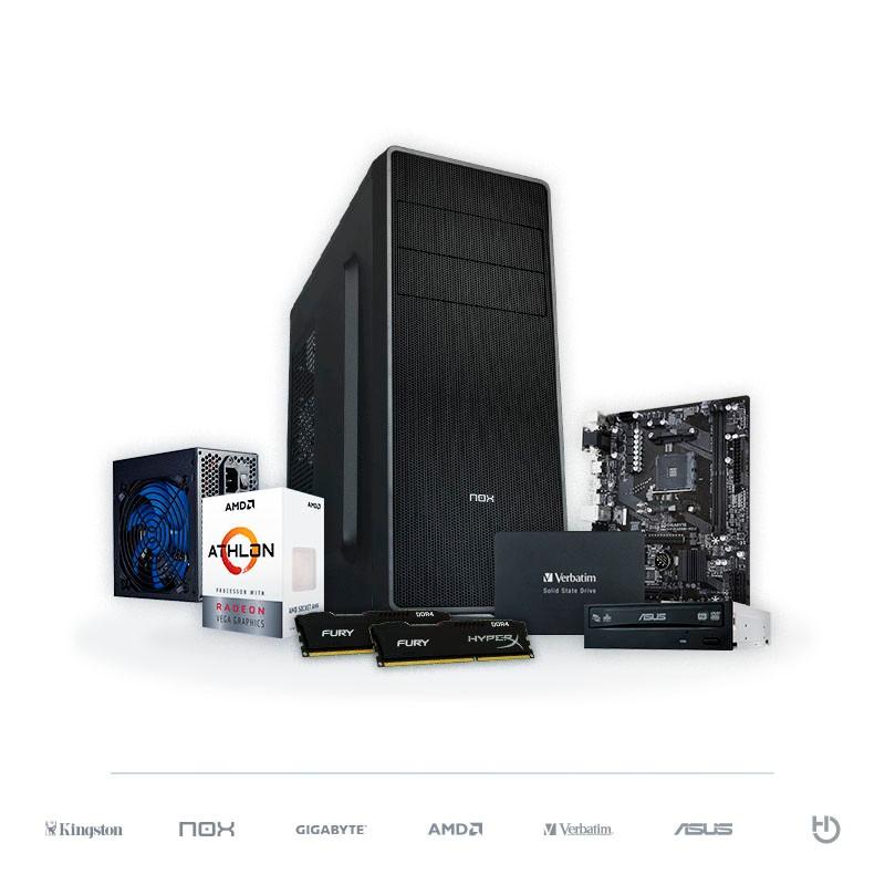 PC BARBANEGRA Athlon 200GE Radeon Vega 3 8GB DDR4 120GB SSD