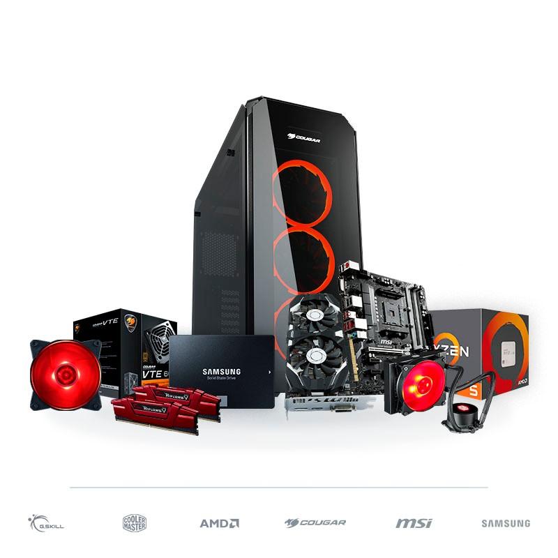 PC Gaming BARBAROJA Ryzen 5 2600 16GB 1TB SSD GTX 1050 Ti