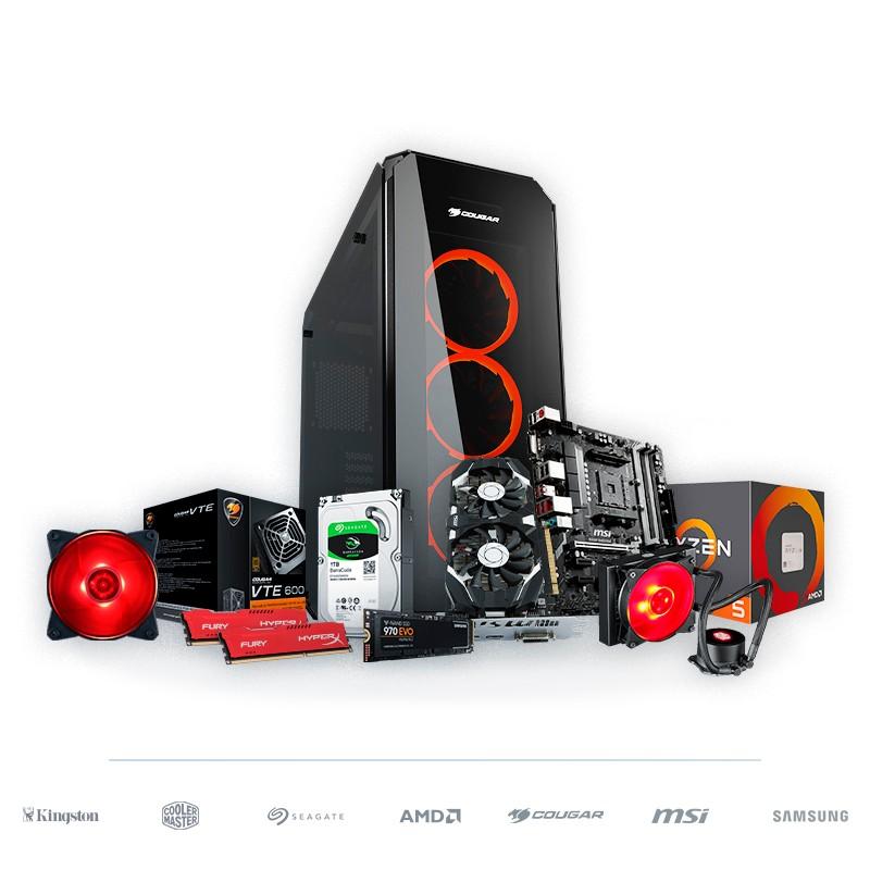 PC Gaming BARBAROJA Ryzen 5 2600 16GB 250GB SSD 1TB HDD RX570 v1.2