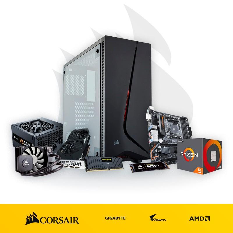 PC 'El Corsario' Ryzen 5 2600 16GB RAM 960GB SSD GTX 1660 Ti 6GB