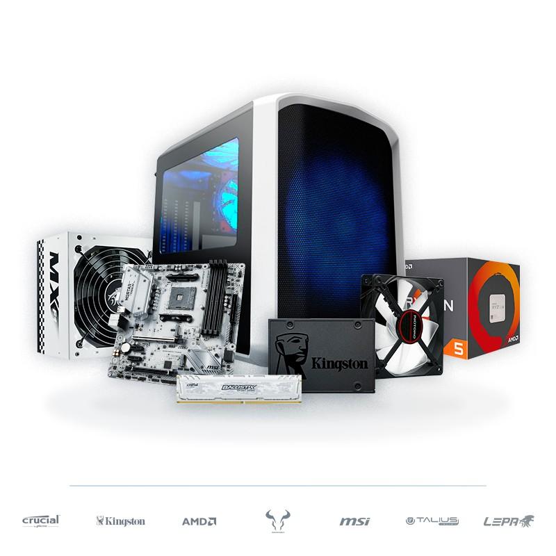 PC SNOWBALL Ryzen 5 2400G + Radeon Vega 11 8GB 480GB SSD