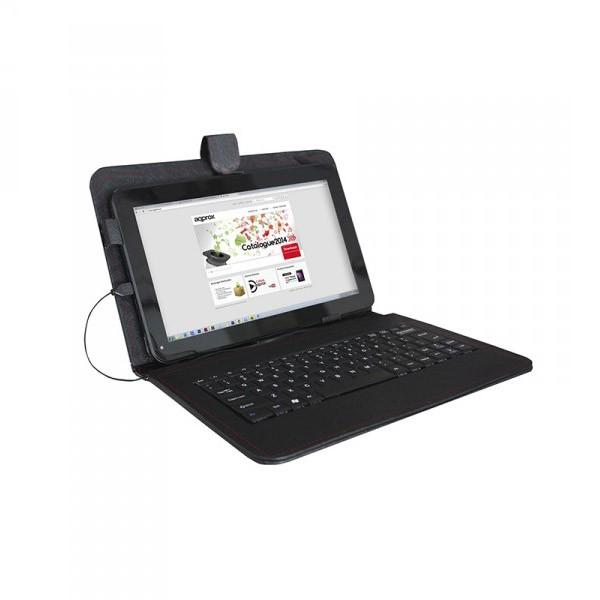 Funda universal con teclado usb para tablet 9 approx negro - Fundas con teclado para tablet ...