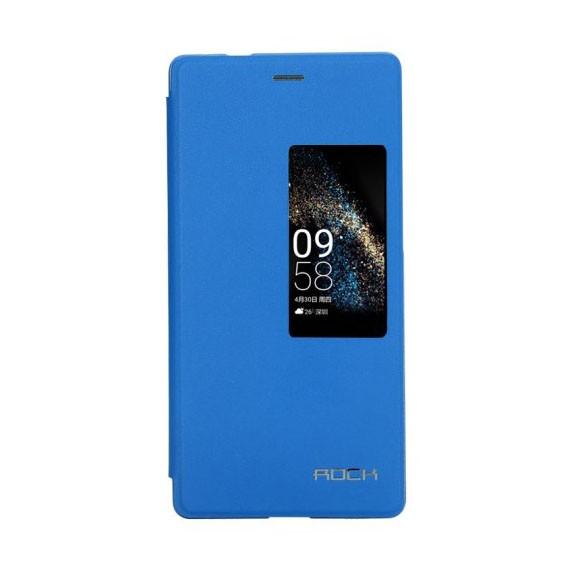 huawei-p8-funda-tipo-libro-con-ventana-azul