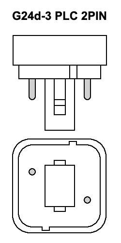 Lampara PLC Bajo Consumo 2PIN 26W 6400K G24d-3