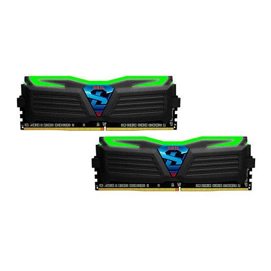 Kit Memoria GeiL Super Luce BL Green 16GB DDR4 2400MHz (2x8GB)