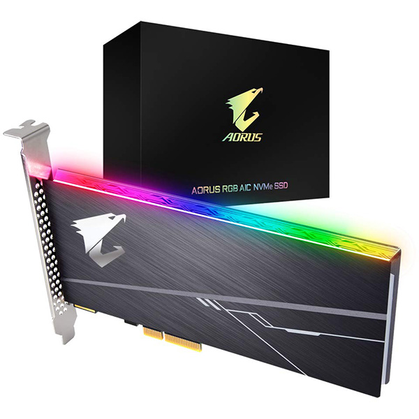 SSD AIC PCIe 3.0x4 NVMe 512GB Aorus RGB