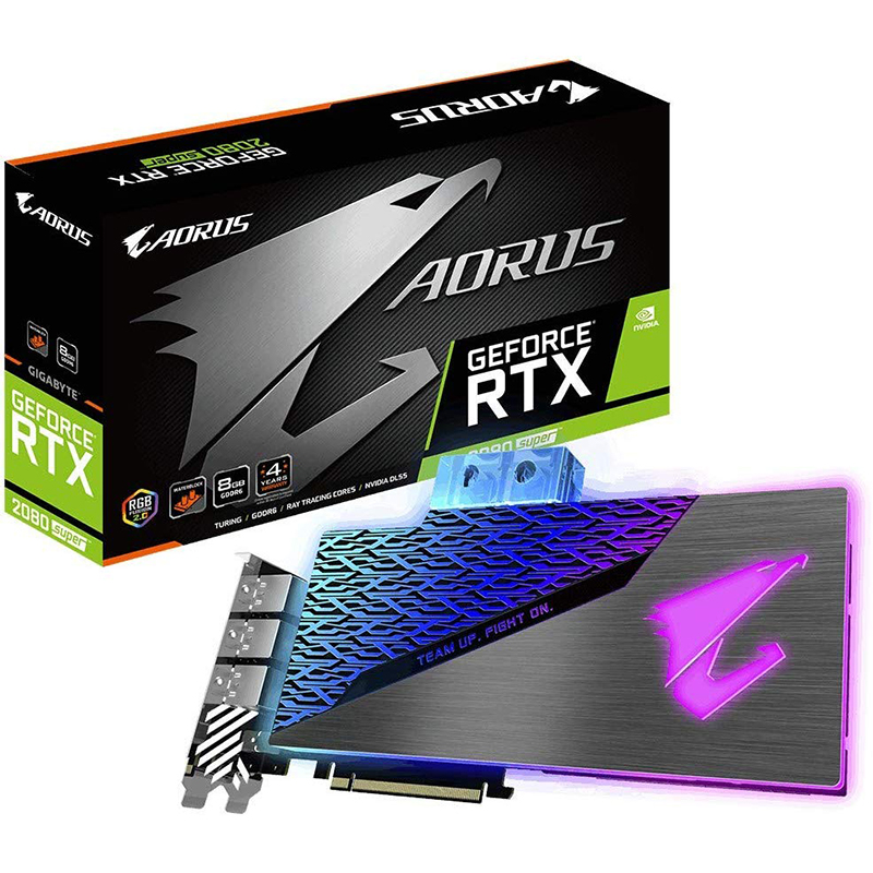 Tarjeta Gráfica Aorus GeForce RTX 2080 SUPER WATERFORCE WB 8GB GDDR6