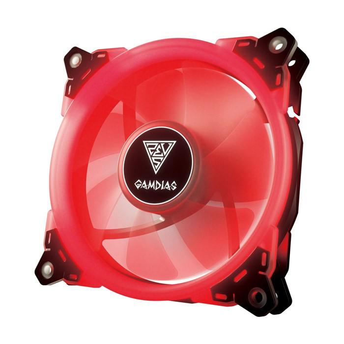 Ventilador PC LED Gamdias Aeolus E1-1201 Rojo 120mm