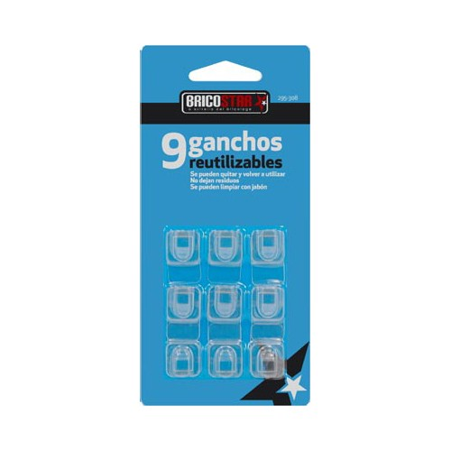 mini-ganchos-adhesivos-reutilizables-transparentes-bricostar-9ud