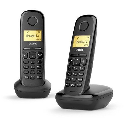 Teléfono Inalámbrico Gigaset A170 DUO Negro