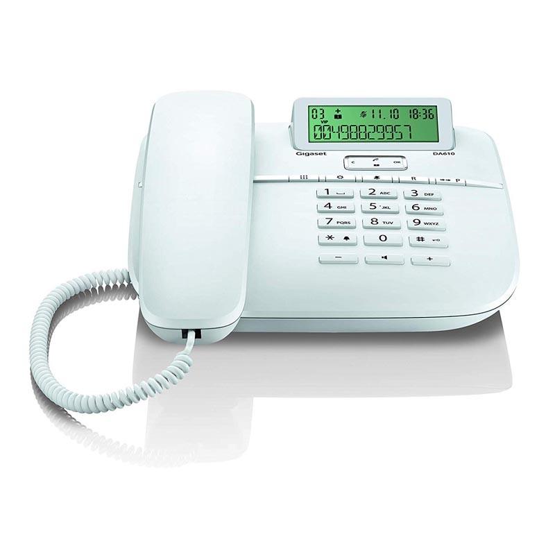 Telefono Fijo Gigaset Euroset DA610 Blanco