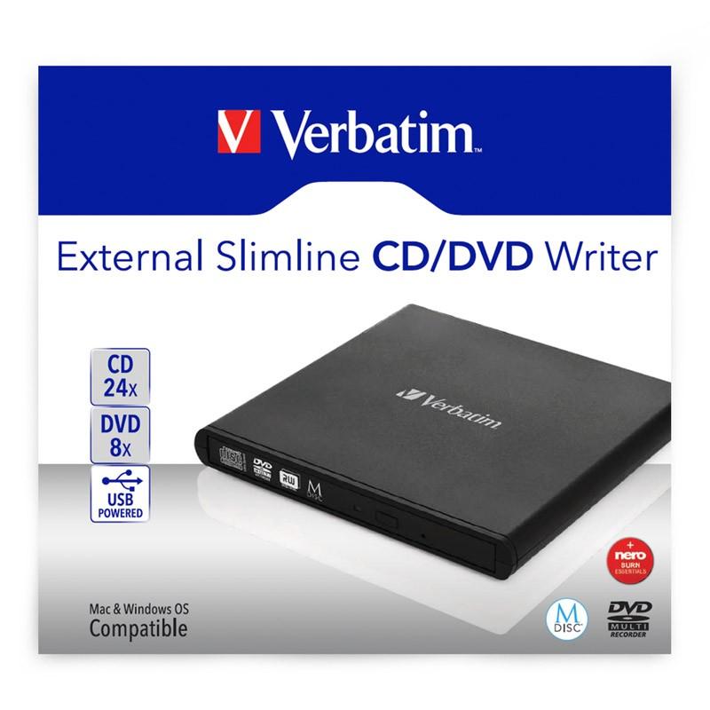 Grabadora DVD Externa Verbatim 98938 Negro