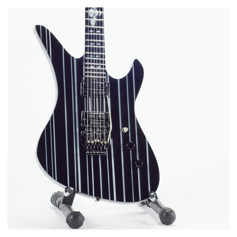 Mini Guitarra De Colección Estilo Avenged Sevenfold - Synyster Gates Negra