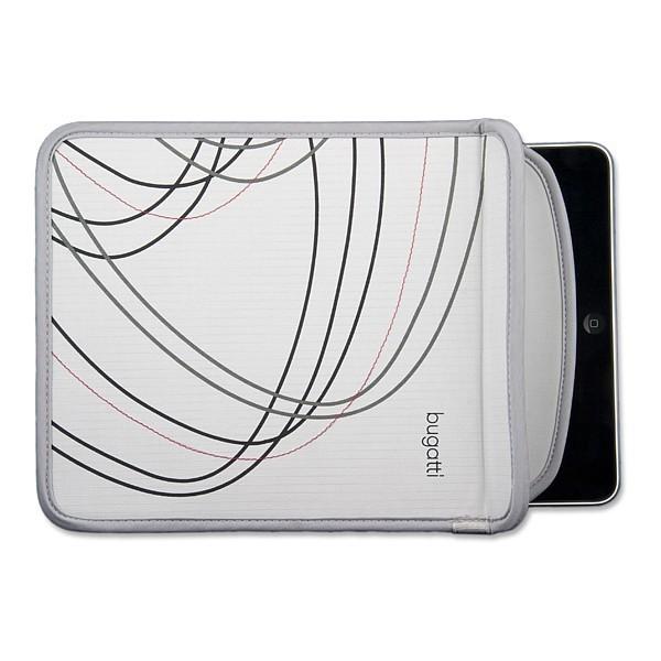 Funda de Nylon para iPad Bugatti Original Gris/Blanco
