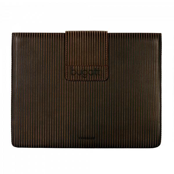 Funda de Cuero para iPad Bugatti Original Marron con Rayas