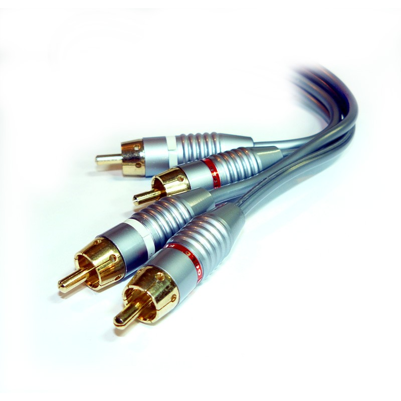 Cable de Audio RCA Estereo Premium GOLD 2.5m