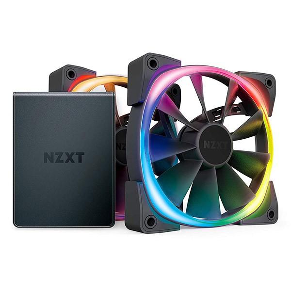 Ventilador PC NZXT Aer RGB 2 Starter Kit 120mm (2 Unidades) + Controlador HUE