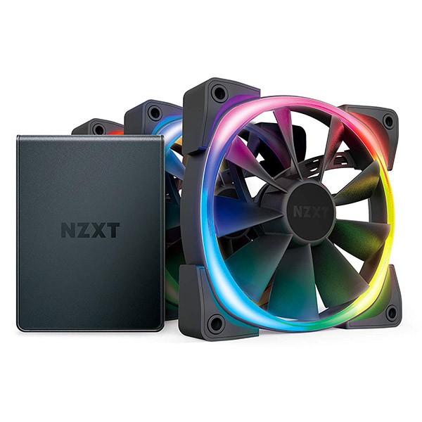 Ventilador PC NZXT Aer RGB 2 Starter Kit 120mm (3 Unidades) + Controlador HUE
