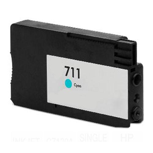 Hp711c (cian) cartucho de tinta compatible
