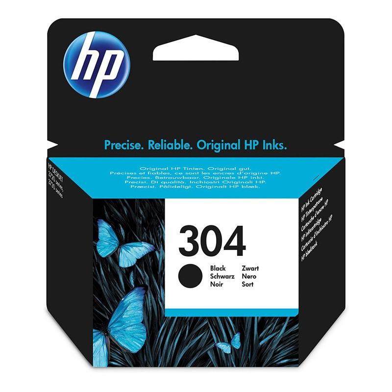 HP 304BK Cartucho de Tinta Original Negro