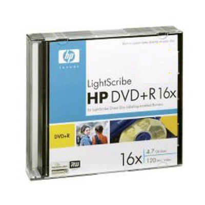Dvd+R HP 16x Lightscribe Slim Case