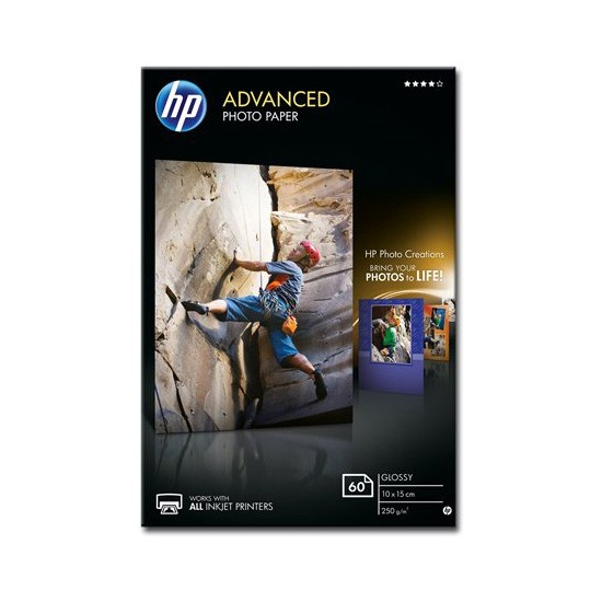 HP Papel Foto Advanced Glossy 250 G/m2 Pack 60 uds (100 x 150mm)