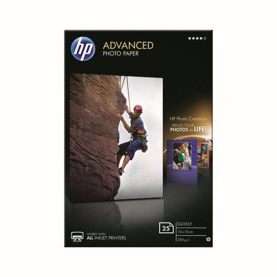 HP Papel Foto Advanced Glossy 250 g/m2, 25 hojas (100x150mm)